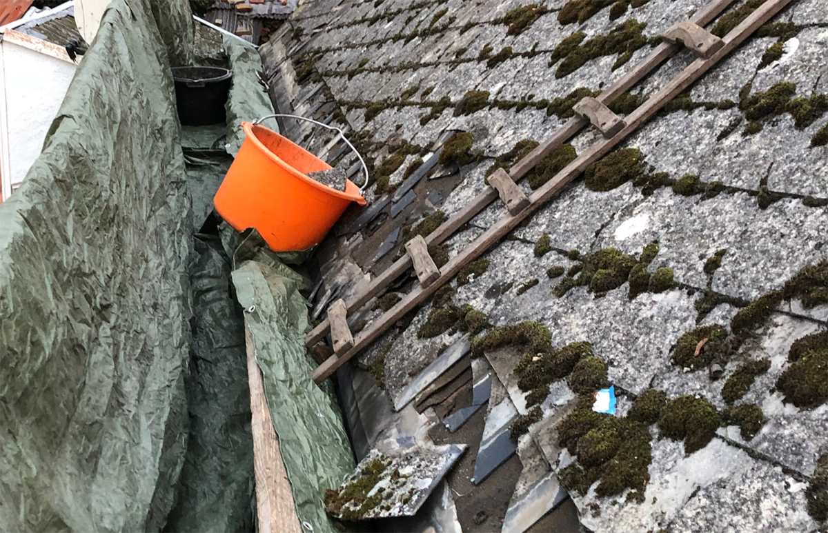 Asbest erkennen - Asbest auf dem Dach